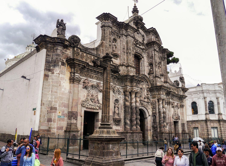 Quito. Kościół Jezuitów. Iglesia de La Compania de Jesus